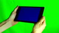 Using Tablet Pc With Blue Screen video