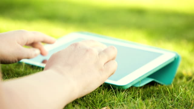 Using touchpad outdoor video