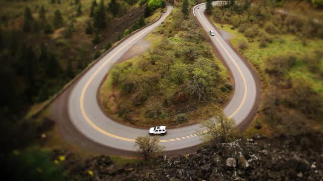 U-turn cars road street video