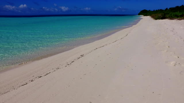 v00102 Maldives beautiful beach background white sandy tropical paradise island with blue sky sea water ocean 4k video
