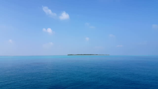 v01615 Maldives beautiful beach background white sandy tropical paradise island with blue sky sea water ocean 4k video