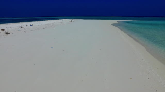 v01630 Maldives beautiful beach background white sandy tropical paradise island with blue sky sea water ocean 4k video