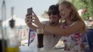 Vacation couple selfie video