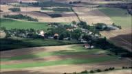 Vaerslev Village And Church  - Aerial View - Zealand, Kalundborg Kommune, Denmark video