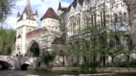 Vajdahunyad Castle in Budapest (HD) video