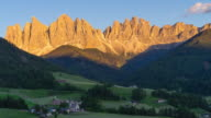 Val di Funes, Dolomite Alps, South Tyrol, Italy video