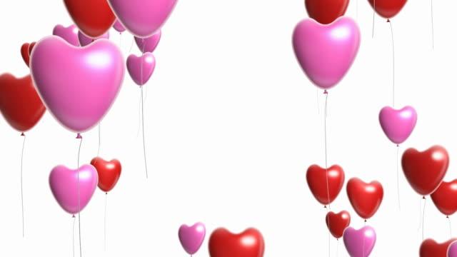 Valentine Balloons -  seamless loop, alpha video