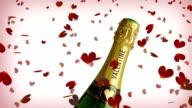Valentine champagne video
