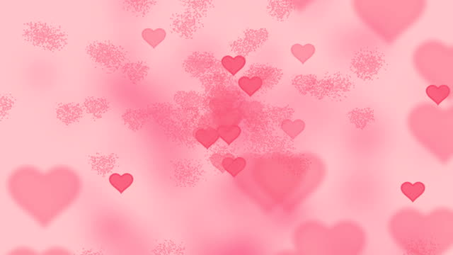 Valentine Hearts Abstract Pink Background video
