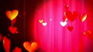 Valentine hearts for Valentine's Day video