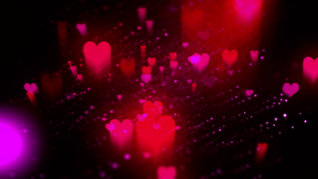 valentine hearts video