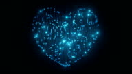 Valentine's Day Background, Heart Background, Circuit Board Heart video