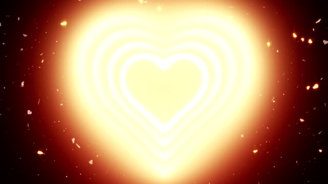 Valentine's Day Background, Heart Light, Loopable video