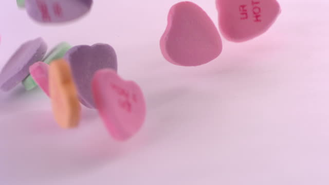 Valentine's Day candy, slow motion video