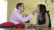 Valentine's Day couple with chocolates video