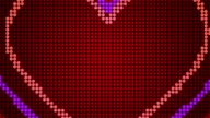 Valentine's day loopable abstract background video