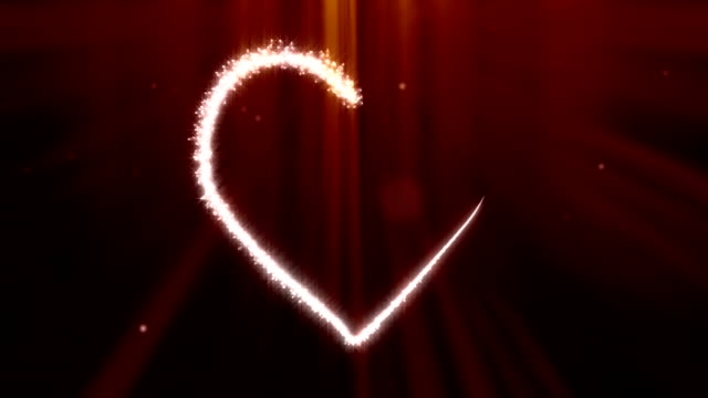 Valentine's Day Sparks Growing Heart Shape video