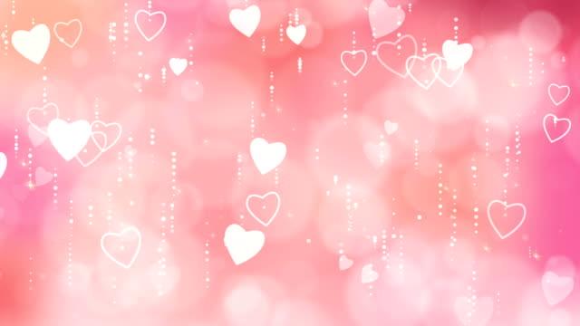Valentine's Hearts Background. video