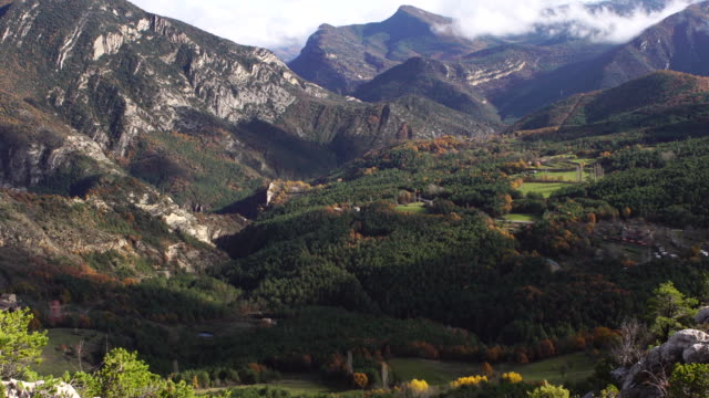 Vallcebre mountains in autumn video