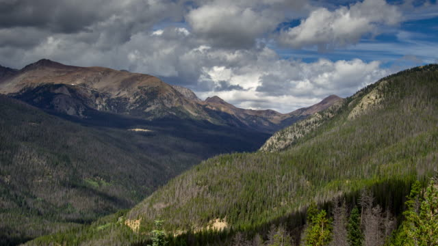 Valley in Rocky Mountain National Park - Time Lapse video