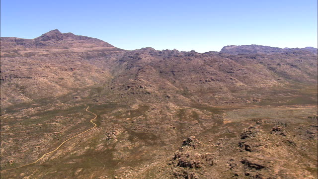 Valley In the Cederbergs  - Aerial View - Western Cape,  West Coast District Municipality,  Cederberg,  South Africa video