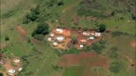 Valley Of A 1000 Hills Near Ngcolosi  - Aerial View - KwaZulu-Natal,  iLembe District Municipality,  Ndwedwe,  South Africa video