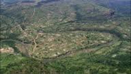 Valley Of A 1000 Hills Near Ogunjini  - Aerial View - KwaZulu-Natal,  iLembe District Municipality,  Ndwedwe,  South Africa video