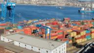 Valparaiso Port Activity, Timelapse HD1080 video