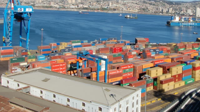 Valparaiso Port Activity, Timelapse HD1080 video