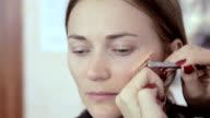 Vampire actress make-up video