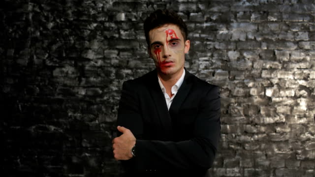 Vampire wipes away the blood video