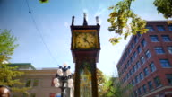 Vancouver Historic Gas Powered Steam Clock, Gastown Downtown City video