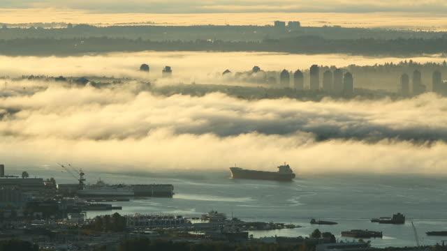 Vancouver Morning Fog, Mount Baker video