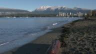 Vancouver, Mountain Snow, Kitsilano 4K slow motion video