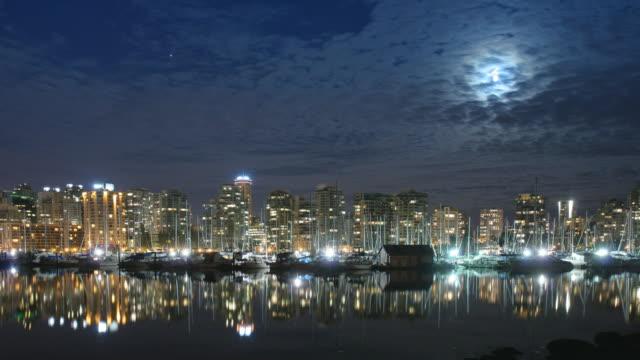 Vancouver Night Skyline B Time Lapse video