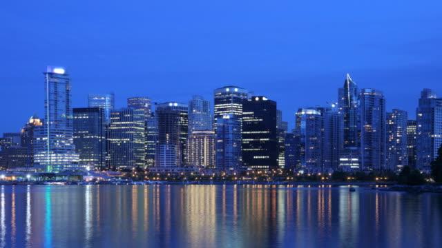 Vancouver Night Skyline Time Lapse video