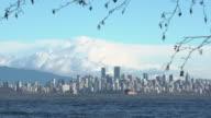 Vancouver Skyline across English Bay 4K UHD video