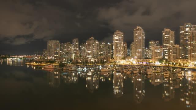Vancouver Skyline Night Time Lapse video