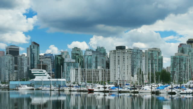Vancouver Skyline Time Lapse Panning video