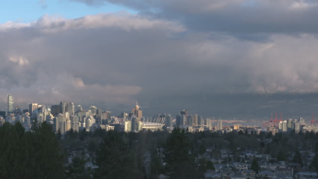 Vancouver Skyline Timelapse BC 4K UHD video