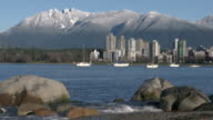 Vancouver Towers, Mountain Snow, English Bay Shore video