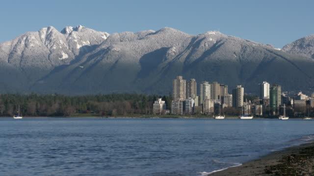 Vancouver Towers, Mountain Snow, Kitsilano 4K video