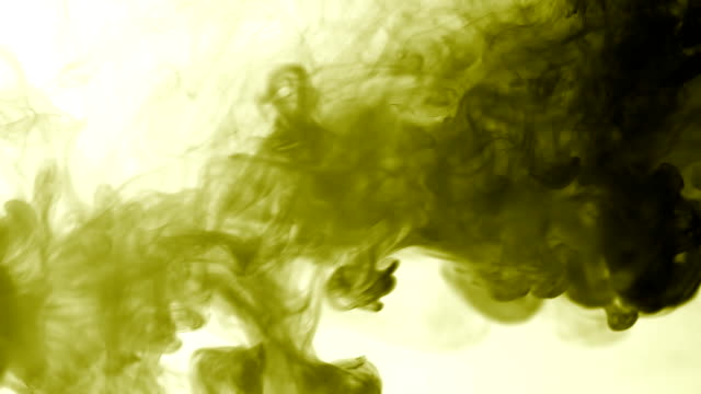 Vapor like smoke at radioactive olive in white background. Vape smoke rings in motion at vape clouds. video