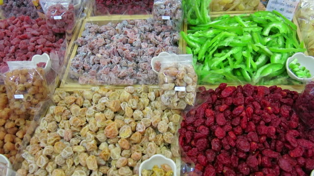 Variation of dried fruit video