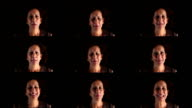 Variation of facial expressions by mature adult woman video
