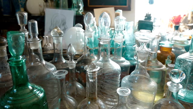 Variety of Bottles for Everyday Life of Inhabitants of the 19Th Century video