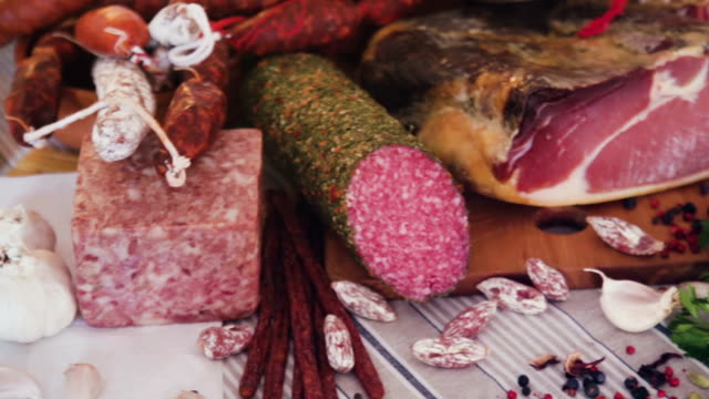 variety of meat products video