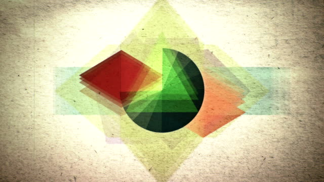 Variety of multicolored shapes pulsating and shifting video
