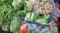 Variety of tropical vegetables video