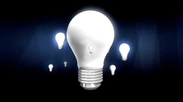 Various bulb light move around bulb light. video